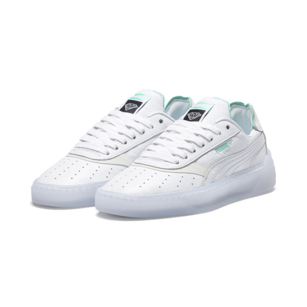 PUMA x DIAMOND Cali-0 Supply sportschoenen, Puma White-Puma White, large
