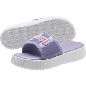 Thumbnail 2 of Platform Fashion Women's Slides, Sweet Lavender-Puma White, medium
