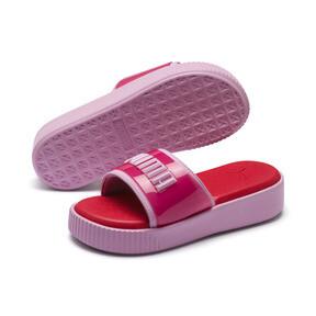 Thumbnail 2 of Platform Fashion Women's Slides, Hibiscus -Pale Pink, medium
