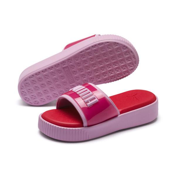 Platform Fashion Women's Slides, Hibiscus -Pale Pink, large