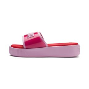 Thumbnail 1 of Platform Fashion Women's Slides, Hibiscus -Pale Pink, medium