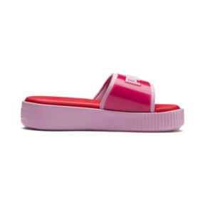 Thumbnail 5 of Platform Fashion Women's Slides, Hibiscus -Pale Pink, medium