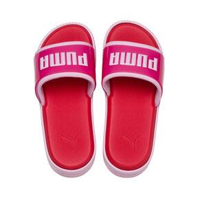 Thumbnail 6 of Platform Fashion Women's Slides, Hibiscus -Pale Pink, medium