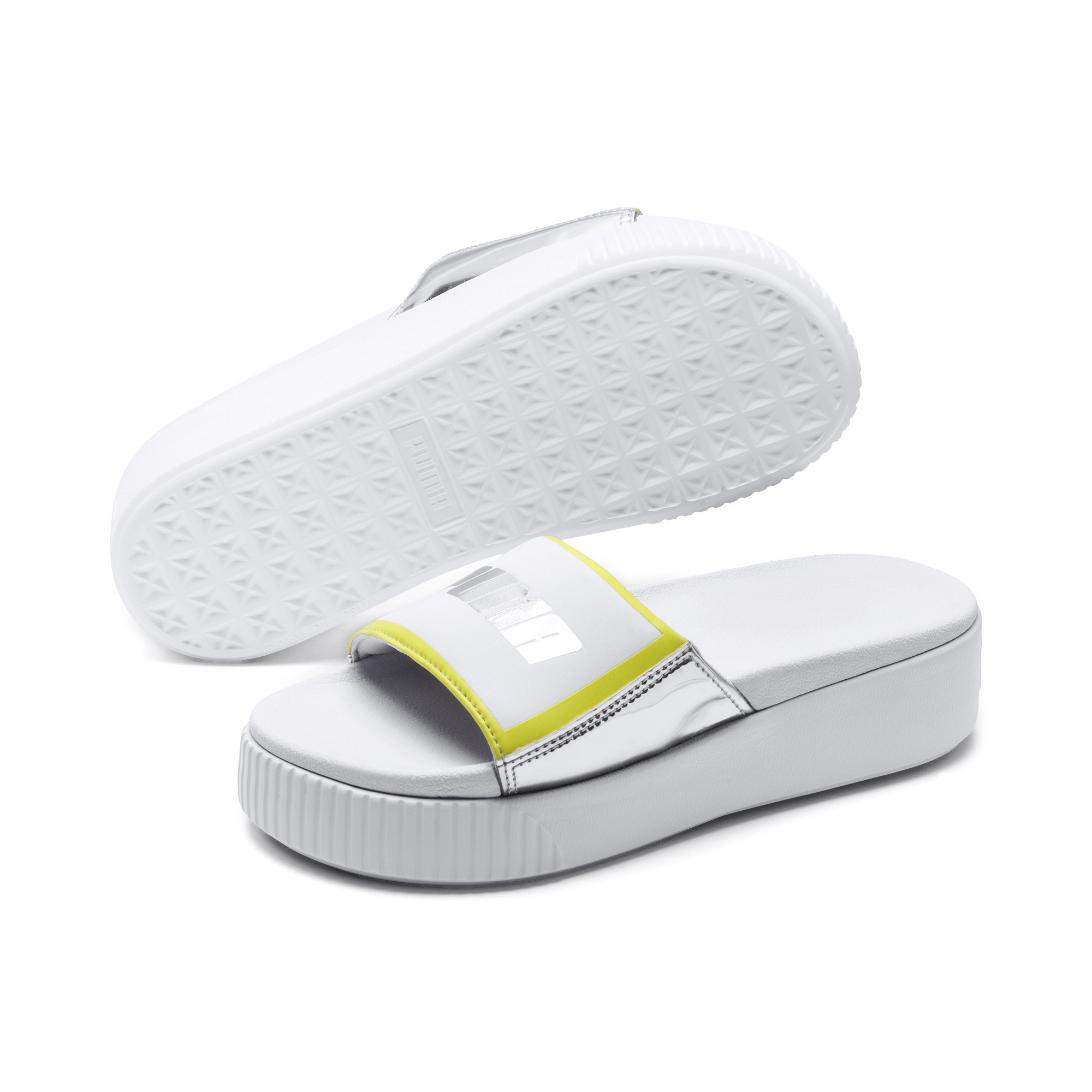 Image Puma Platform Slide Trailblazer Metallic Women's Sandals #2