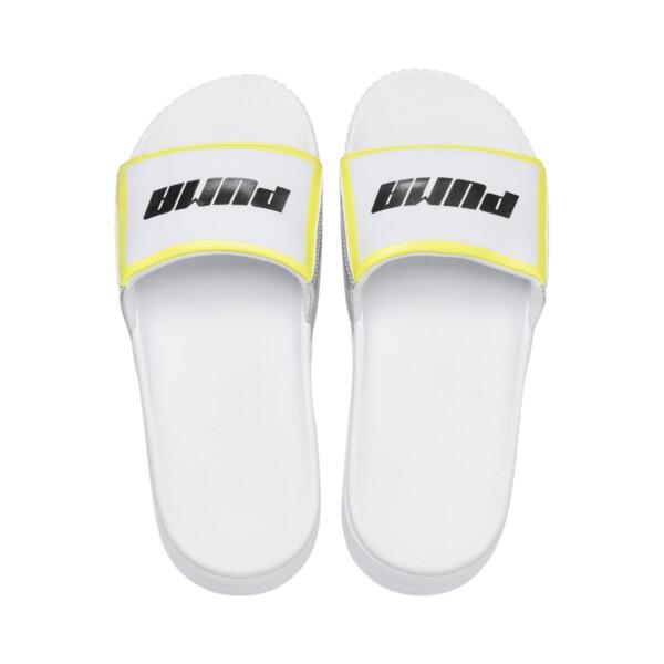 プラットフォーム スライド TZ メタリック ウィメンズ サンダル, Puma White-Puma Silver, large-JPN