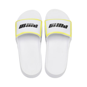 Thumbnail 6 of Platform Trailblazer Metallic Women's Slide Sandals, Puma White-Puma Silver, medium
