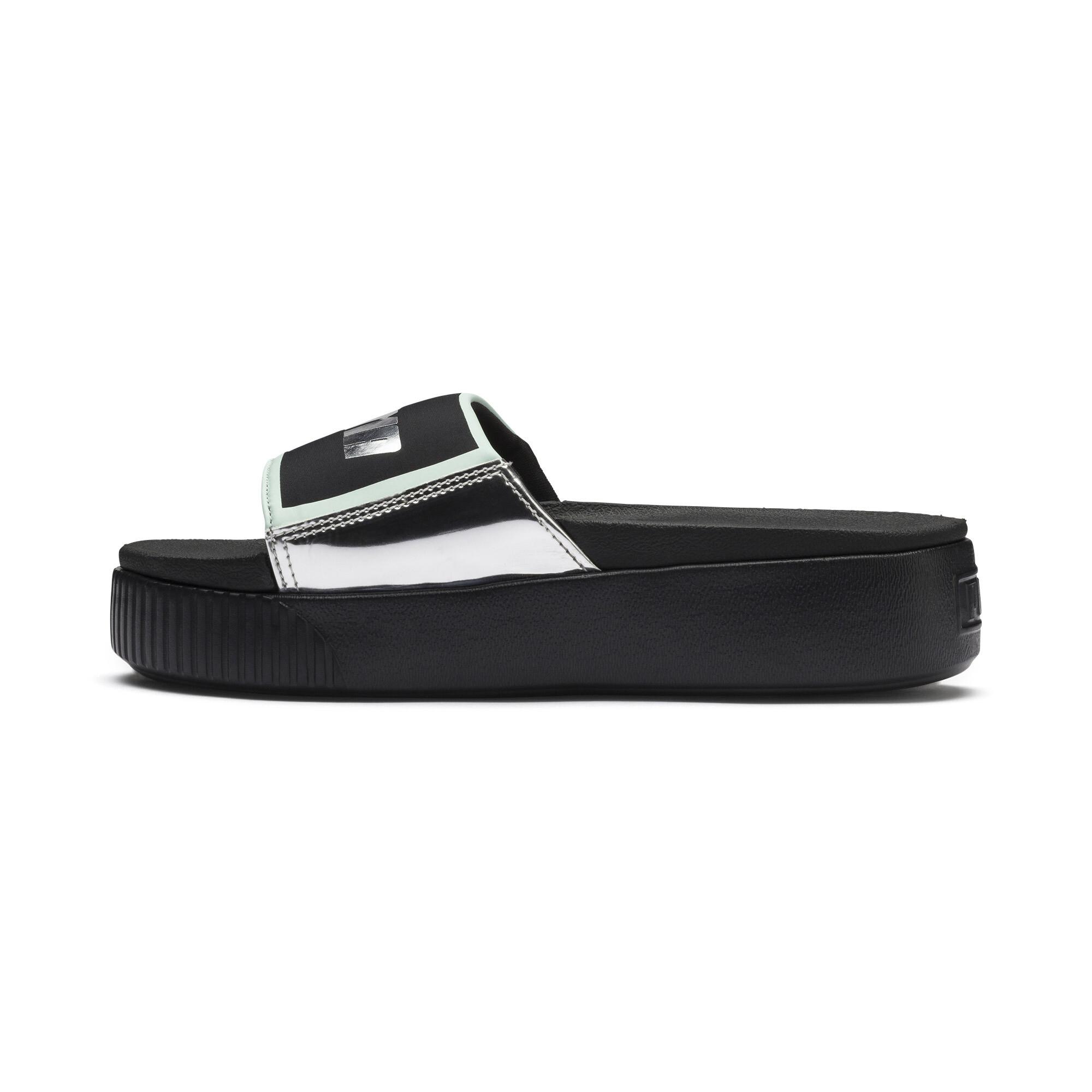 Image Puma Platform Slide Trailblazer Metallic Women's Sandals #1
