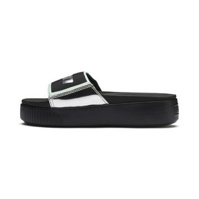 Platform Slide Trailblazer Metallic Damen Sandalen
