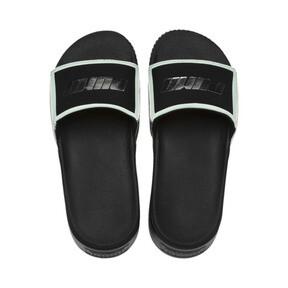 Thumbnail 6 of Platform Trailblazer Metallic Women's Slides, Puma Black-Puma Silver, medium