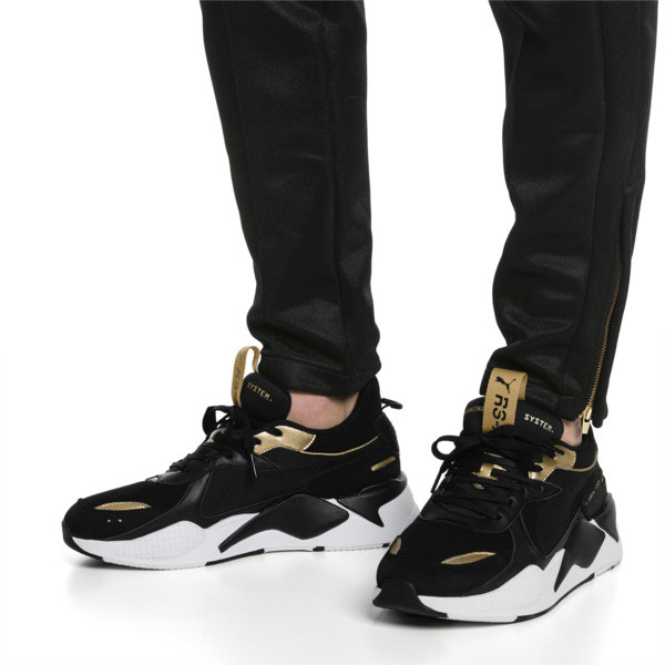 RS-X TROPHY Trainers, Puma Black-Puma Team Gold, large
