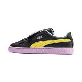 Thumbnail 1 of Basket Badge Trailblazer Women's Trainers, Puma Black-Blazing Yellow, medium