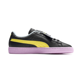 Thumbnail 5 of Basket Badge Trailblazer Women's Trainers, Puma Black-Blazing Yellow, medium