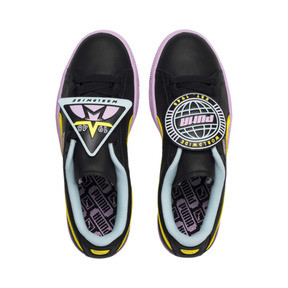 Thumbnail 6 of Basket Badge Trailblazer Women's Trainers, Puma Black-Blazing Yellow, medium