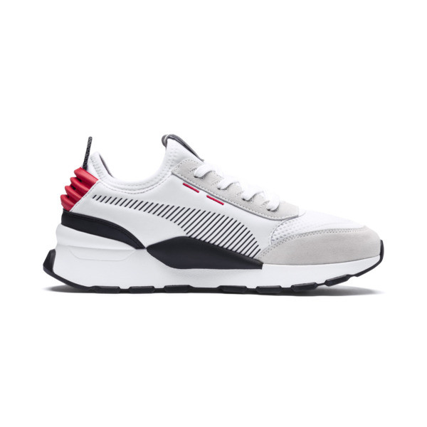 RS-0 Winter Inj Toys Sneaker, Puma White-High Risk Red, large