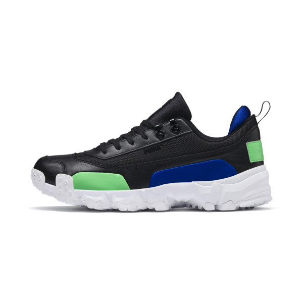 Trailfox Leather Sneakers, Puma Black-Irish Green, large