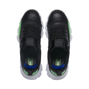 Thumbnail 6 of Trailfox Leather Trainers, Puma Black-Irish Green, medium