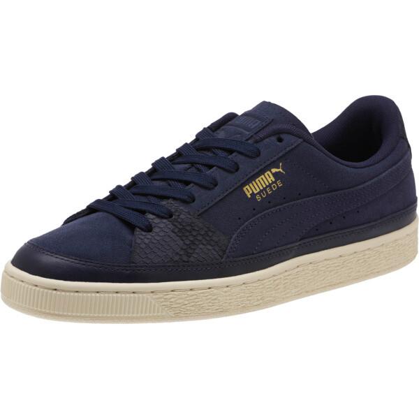 Suede Skate Premium Sneakers, Peacoat-Whisper White, large