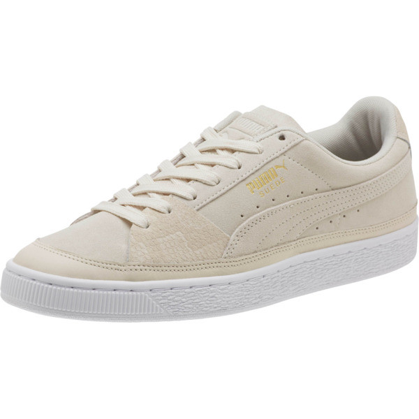 Suede Skate Premium Sneakers, Whisper White-Puma White, large