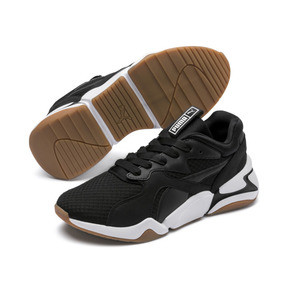 Thumbnail 3 of Nova '90s Bloc Women's Trainers, Puma Black-Puma Black, medium