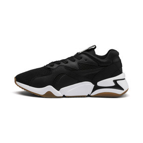 Thumbnail 1 of Nova '90s Bloc Women's Trainers, Puma Black-Puma Black, medium