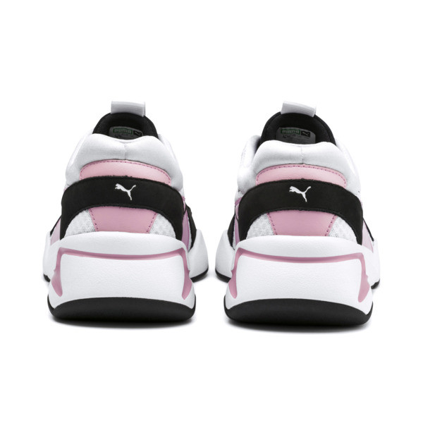 Nova '90s Bloc Women's Trainers, Puma White-Pale Pink, large