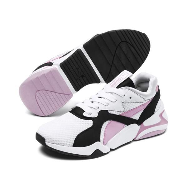 Nova '90s Bloc Damen Sneaker, Puma White-Pale Pink, large