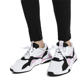 Thumbnail 7 of Nova '90s Bloc Women's Trainers, Puma White-Pale Pink, medium