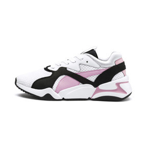 Thumbnail 1 of Nova '90s Bloc Women's Trainers, Puma White-Pale Pink, medium