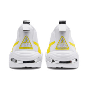 Thumbnail 4 of Thunder Trailblazer Metallic Women's Sneakers, Puma White-Blazing Yellow, medium