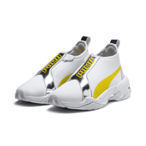 Thumbnail 3 of Thunder Trailblazer Metallic Women's Sneakers, Puma White-Blazing Yellow, medium
