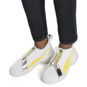 Thumbnail 2 of Thunder Trailblazer Metallic Women's Sneakers, Puma White-Blazing Yellow, medium