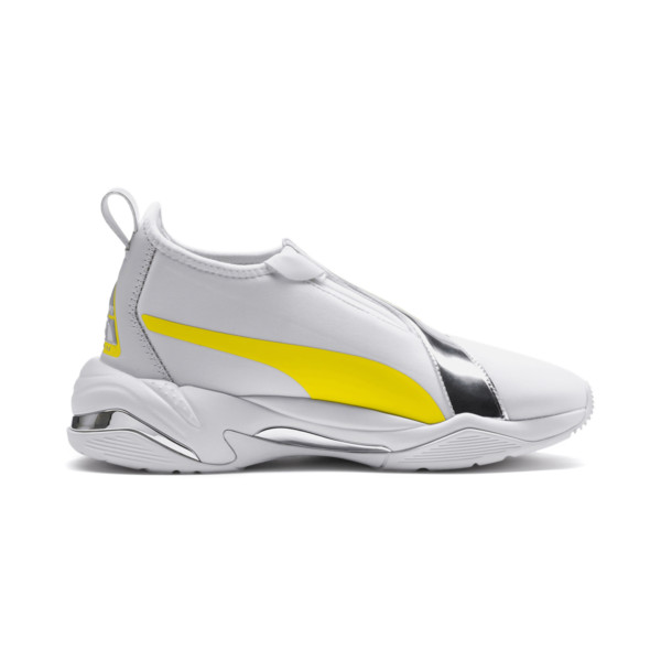 Thunder Trailblazer Metallic Women's Sneakers, Puma White-Blazing Yellow, large