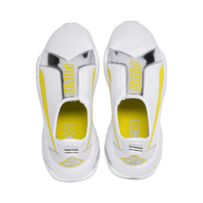 Thumbnail 7 of Thunder Trailblazer Metallic Women's Sneakers, Puma White-Blazing Yellow, medium