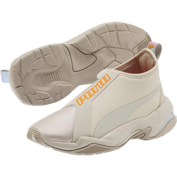 Thunder Trailblazer Tonal Metallic Women's Sneakers, Silver Gray-Nasturtium, large