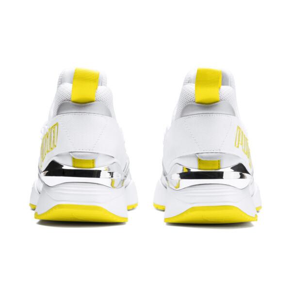 Muse Maia Trailblazer Metallic Women's Sneakers, Puma White-Blazing Yellow, large