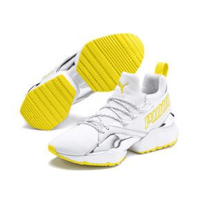 Thumbnail 3 of プーマ ミューズ マイア TZ メタリック ウィメンズ, Puma White-Blazing Yellow, medium-JPN