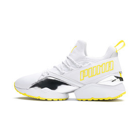 Thumbnail 1 of プーマ ミューズ マイア TZ メタリック ウィメンズ, Puma White-Blazing Yellow, medium-JPN