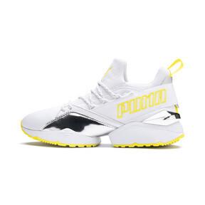 Thumbnail 1 of Muse Maia Trailblazer Metallic Women's Sneakers, Puma White-Blazing Yellow, medium