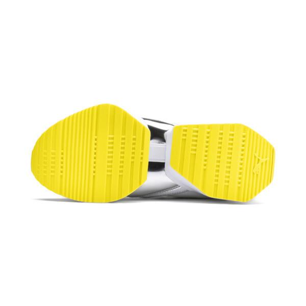 プーマ ミューズ マイア TZ メタリック ウィメンズ, Puma White-Blazing Yellow, large-JPN