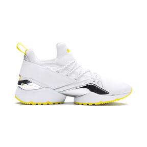 Thumbnail 6 of Muse Maia Trailblazer Metallic Women's Sneakers, Puma White-Blazing Yellow, medium