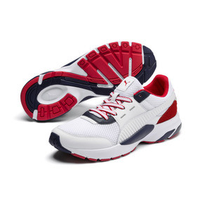 Thumbnail 2 of Future Runner Premium Sneakers, Puma White-Peacoat-Red, medium