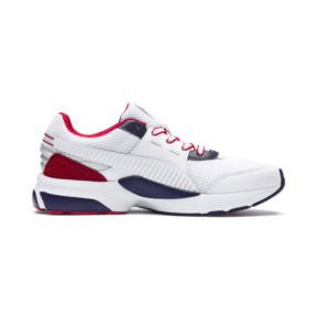 Thumbnail 5 of Future Runner Premium Sneakers, Puma White-Peacoat-Red, medium