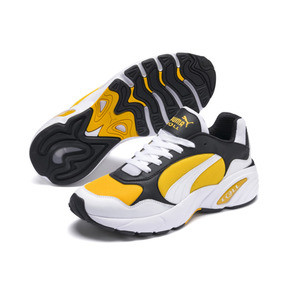 Thumbnail 2 of CELL Viper Trainers, Puma White-Spectra Yellow, medium
