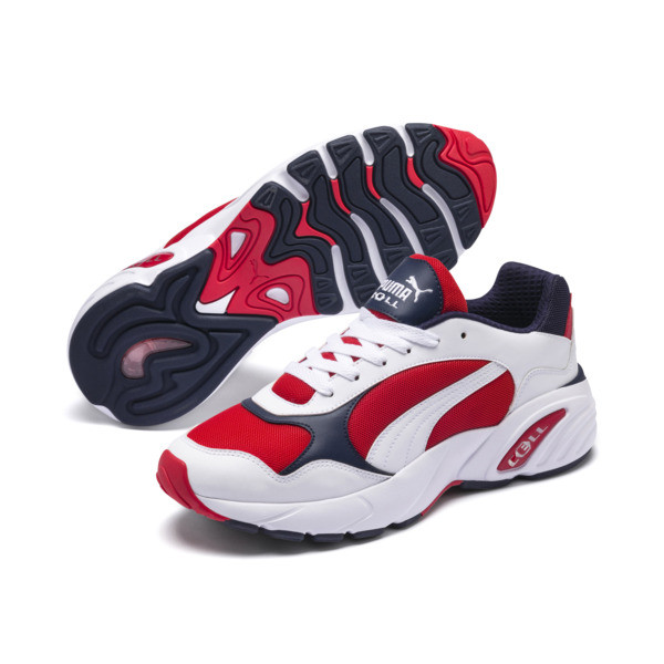 CELL Viper Trainers, Puma White-High Risk Red, large