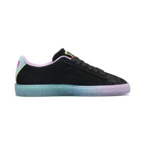 Thumbnail 6 of PUMA x SOPHIA WEBSTER Suede Women's Sneakers, Puma Black-Fiery Coral, medium