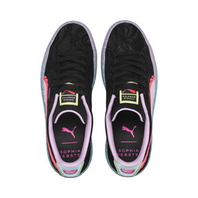 Thumbnail 7 of Basket PUMA x SOPHIA WEBSTER Suede pour femme, Puma Black-Fiery Coral, medium