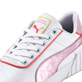Thumbnail 7 of PUMA x SOPHIA WEBSTER Cali Women's Sneakers, Puma White-Pale Pink, medium