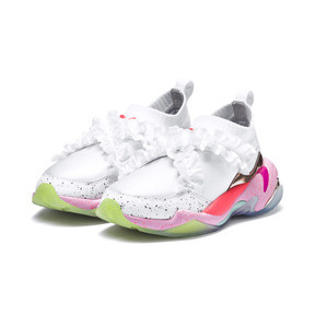 Thumbnail 4 of PUMA x SOPHIA WEBSTER Thunder Women's Sneakers, Puma White, medium