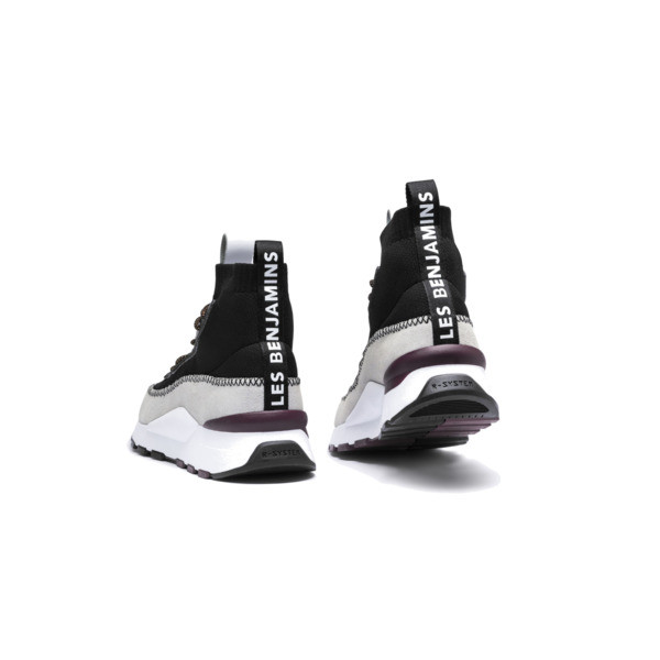 PUMA x LES BENJAMINS RS-0 Trainers, Puma White-Puma Black, large