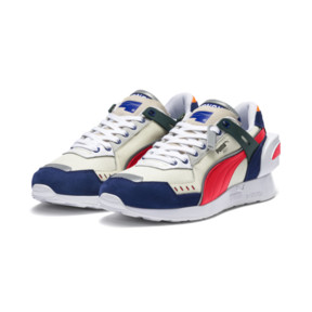 Thumbnail 3 of PUMA x ADER ERROR RS-1 Trainers, Whisper White-Blueprint-Red, medium